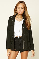 Forever 21 Mock Neck Utility Jacket