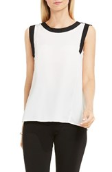 Vince Camuto Women's Colorblock Sleeveless Top New Ivory