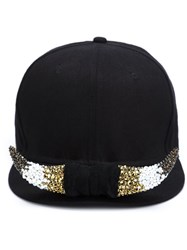 Piers Atkinson Crystal Horn Baseball Hat Black