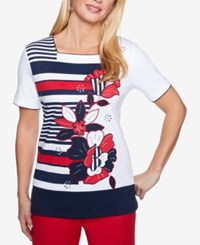Alfred Dunner America's Cup Embellished Top Multi