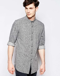 Asos Super Longline Shirt In Jersey Marl With Long Sleeves Greymarl