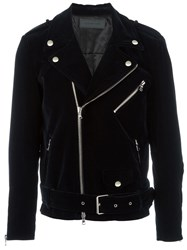 Route Des Garden 'Love' Biker Jacket Blue