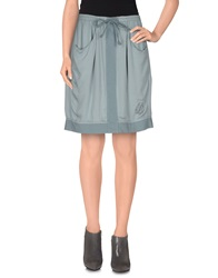 Bleifrei Knee Length Skirts Grey