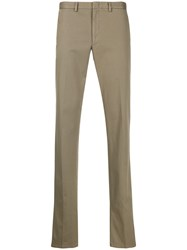 Brioni Cotton Blend Straight Leg Chinos 60