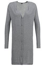 Y.A.S Yas Yasmanna Cardigan Medium Grey Melange Mottled Grey