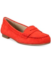 White Mountain Markos Moccasin Flats Women's Shoes Chili Red