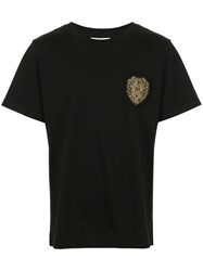 Public School Lion Patch T Shirt Black