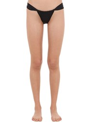 Mc2 Saint Barth Lycra Bikini Bottoms Black
