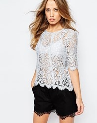 Y.A.S Flay Shell Top In Lace Blue
