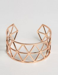 Ny Lon Nylon Geo Cut Out Cuff Bracelet Gold