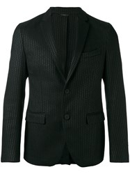 Fendi Textured Two Button Blazer Black