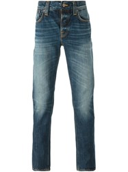 Nudie Jeans Co Stone Washed Straight Leg Jeans Blue