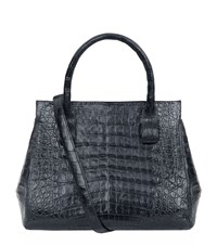 Nancy Gonzalez Small Crocodile Skin Tote Female Black