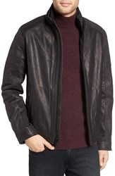 Michael Kors Men's Faux Shearling Lined Leather Jacket