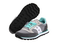 Saucony Jazz Low Pro Grey White Women's Classic Shoes Gray