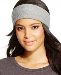 Charter Club Cashmere Cable Knit Headband Only At Macy's Heather Crystal