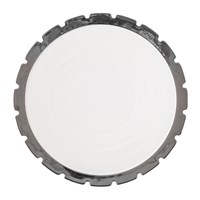 Diesel Living With Seletti Machine Collection Dinner Plate Design 2 Silver