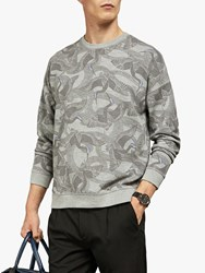 Ted Baker Swecon Crew Neck Jumper Grey Marl