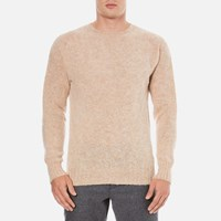 Ymc Men's Suedehead Brushed Jumper Tusk Stone