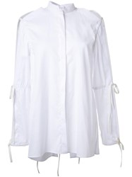 Dion Lee Tie Sleeve Shirt White