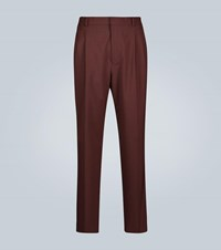 Cmmn Swdn Pleated Wool Trousers Red