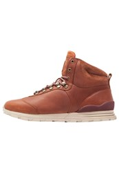 Clae Robinson Hightop Trainers Chesnut Brown