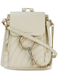 Chloe Faye Mini Backpack White
