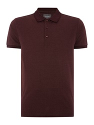Peter Werth Walter Micro V Stitch Polo Shirt Burgundy