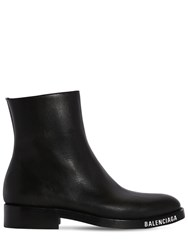 Balenciaga Faux Leather Boots Black