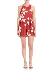 Alice Olivia Mattie T Back Romper Summer Lily