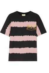Aries Printed Tie Dyed Cotton Jersey T Shirt Pink