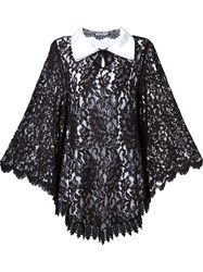 Martha Medeiros Lace Overlay Dress Black