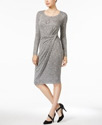 Bar Iii Twisted Bodycon Dress Only At Macy's Heather Grey