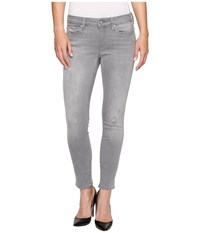 Mavi Jeans Adriana Ankle Mid Rise Skinny In Light Grey Tribeca Light Grey Tribeca Women's Gray