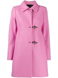 Fay Clasp Fastened Coat Pink