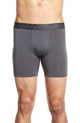 Men's Naked 'Signature' Modal And Cotton Boxer Briefs Charcoal