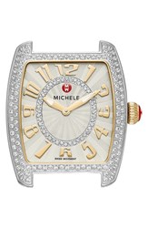 Women's Michele 'Urban Mini' Diamond Dial Watch Case 29Mm X 31Mm Gold Silver
