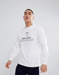 Diamond Supply Co. Records Long Sleeve T Shirt In White