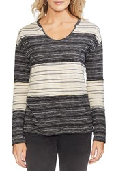 Vince Camuto Colorblock Stripe Jersey Top Regular And Petite Antiq Whit