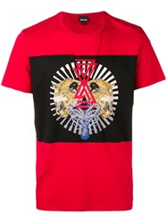 Just Cavalli Printed T Shirt Red