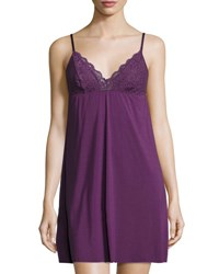 Commando The Butter Lace Trimmed Chemise Purple Rose