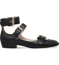 See By Chloe Polly Strappy Leather Pumps Black