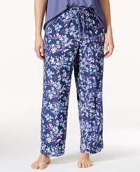 Alfani Plus Size Printed Pajama Pants Only At Macy's Navy Flirt