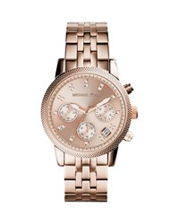 Rose Golden Stainless Steel Ritz Watch Michael Kors