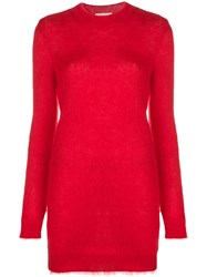 Alyx Dress Like Knitted Jumper Red