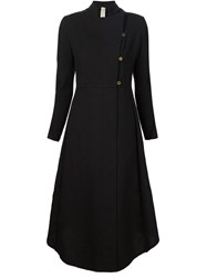 A Diciannoveventitre Flared Long Line Overcoat Black
