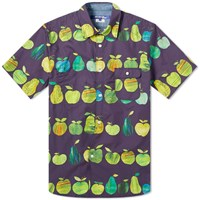 Junya Watanabe Man X Tracey English Apple Print Shirt Blue
