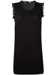 Love Moschino Logo Patch Tank Dress Black