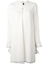 Proenza Schouler Knotted Front Shift Dress White