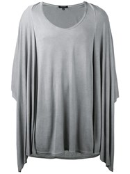 Unconditional Draped T Shirt Men Rayon Xs Grey